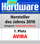 PC Games Hardware: 'producer of the year 2010' in the category 'security software'