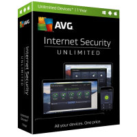 AVG Internet Security - 1-Year / Unlimited Devices