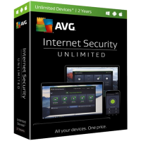 AVG Internet Security - 2-Year / Unlimited Devices - Global