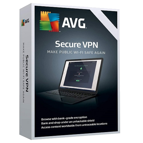 AVG Secure VPN 1-Year / Unlimited Devices (5 Active Connections)
