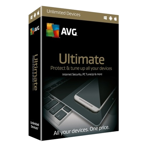 AVG Ultimate - 2-Year / Unlimited Devices - Retail Box