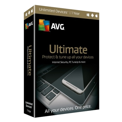 AVG Ultimate - 1-Year / Unlimited Devices - Retail Box