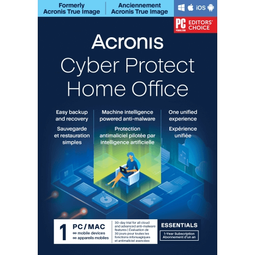 Acronis Cyber Protect Home Office Essentials (formerly Acronis True Image) - 1-Year / 1-Device
