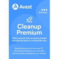 Avast Cleanup Premium - 2 Year / 10-Devices