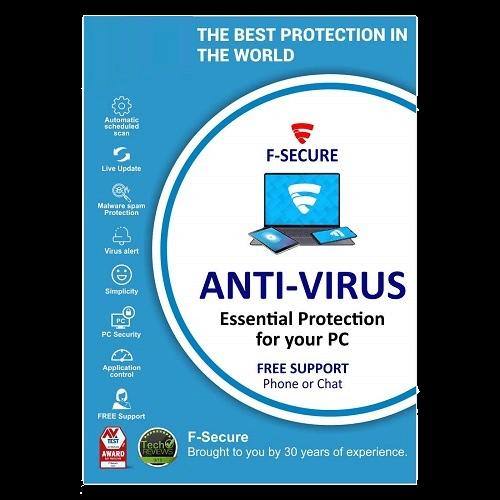 F-Secure Anti-Virus 3-Year / 1-PC - Global