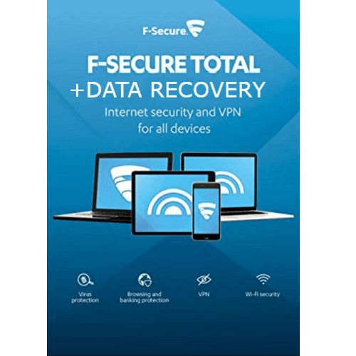 F-Secure TOTAL + Data Recovery  1-Year / 3-Devices - Global