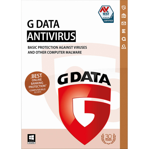 G Data AntiVirus - 1-Year / 3-PC - Global