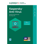 Kaspersky Anti-Virus 2017 - 1-Year / 3-PC - UK/EU