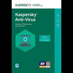 Kaspersky Anti-Virus 2017 - 1-Year / 3-PC - UK/EU