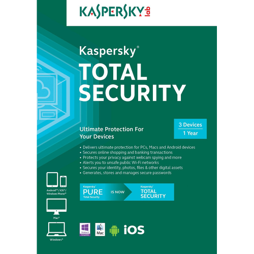 Kaspersky Total Security 1year 3devices on windows vista ultimate product key