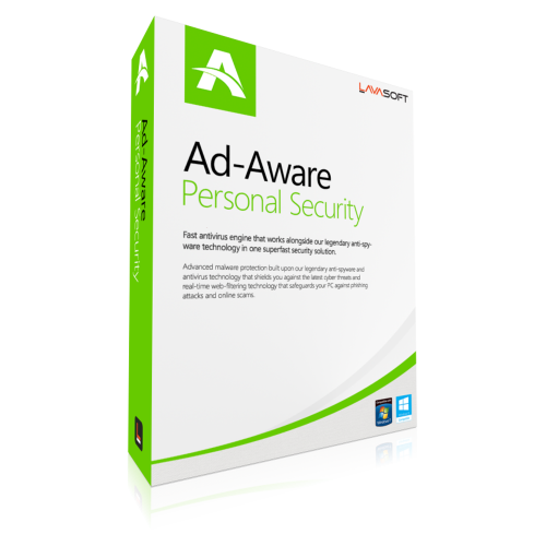 AdAware Antivirus Personal (formerly Lavasoft) - 1-Year / 1-PC