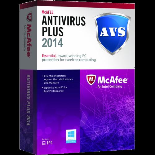 McAfee Antivirus Plus 2014 - 1-Year / 1-PC