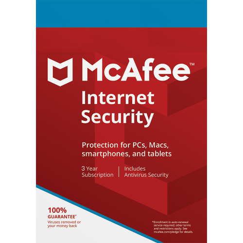 McAfee Internet Security - 3-Year / 1-Device - Global
