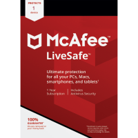 McAfee LiveSafe - 1-Year / 1 Device