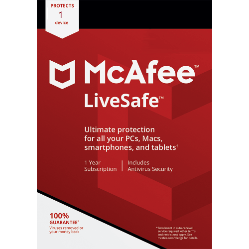 McAfee LiveSafe - 1-Year / 1 Device - Global