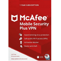 McAfee Mobile Security Plus VPN - 1-Year / 1-Device