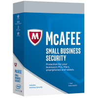 McAfee Small Business Security - 1-Year / 1 PC or 1 Mac / Unlimited Mobile Devices