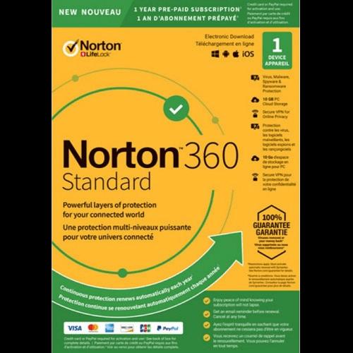 Norton 360 Standard - 1-Year / 1-Device - UK/Europe