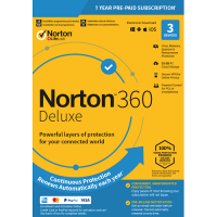 Norton 360 Deluxe - 1-Year / 3-Device - United States & Canada