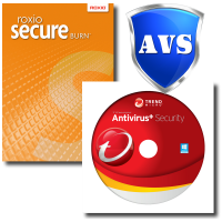 Trend Micro Antivirus+ 2019 & Roxio Secure Burn - 1-Year / 1-PC - BUNDLE