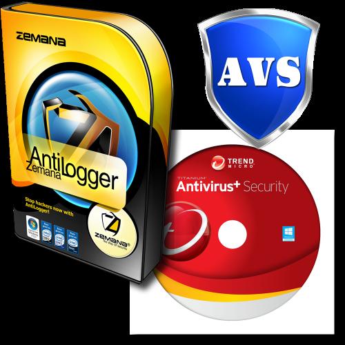 Trend Micro Antivirus+ 2020 & Zemana AntiLogger - 1-Year / 1-PC - BUNDLE