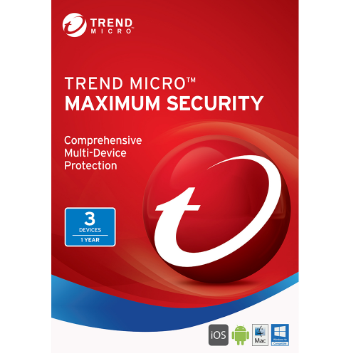Trend Micro Maximum Security (2020) - 1-Year / 3-Device