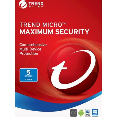 Trend Micro Maximum Security (2021) - 1-Year / 5-Device