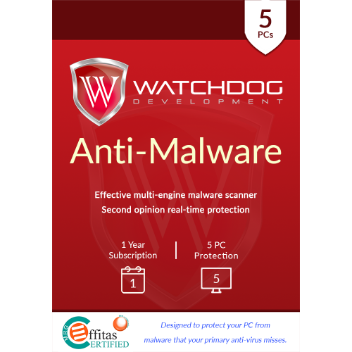 Watchdog Anti-Malware - 1-Year / 5-PC