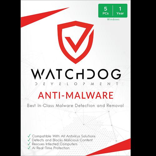 Watchdog Anti-Malware - 1-Year / 5-PC
