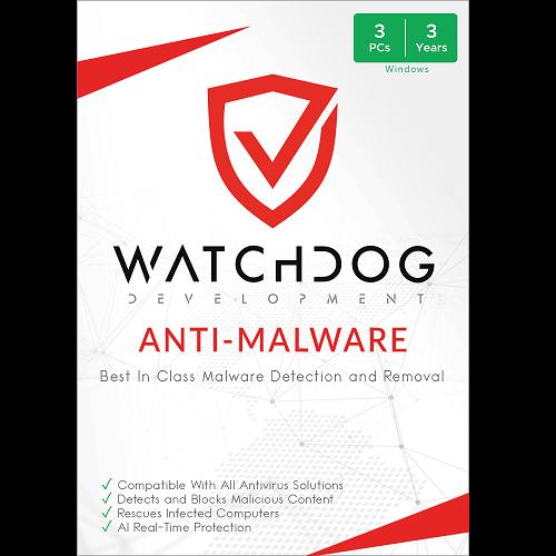 Watchdog Anti-Malware - 3-Year / 3-PC