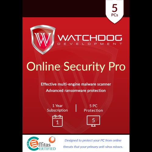 Watchdog Online Security Pro - 1-Year / 5-PC