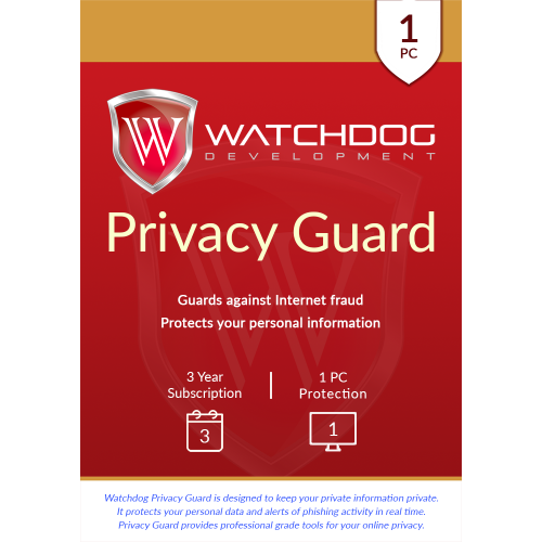 Watchdog Privacy Guard - 3-Year / 1-PC