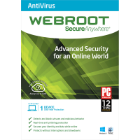 Webroot SecureAnywhere Antivirus - 1-Year / 1-Device