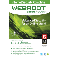 Webroot SecureAnywhere Internet Security Complete - 1-Year / 3-Device